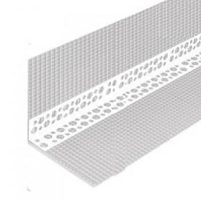 Профиль угловой перфорированный с сеткой пластиковый 10х10, 3 м