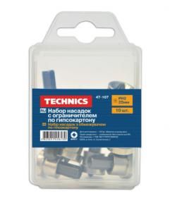 Набор насадок с ограничителем по гипсокартону Technics (Течник) РН2, 50 мм, 5 шт