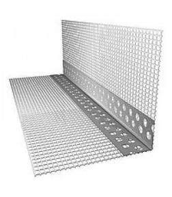 Профиль угловой перфорированный с сеткой алюминиевый 7х7 см, 3 м