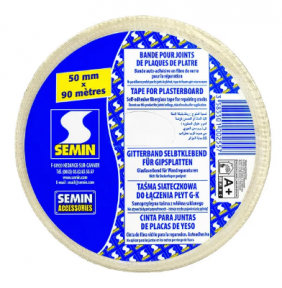 Semin (Семин) Bande Grillageе Лента-сетка из стекловолокна СЕРПЯНКА 50 мм, 90 м