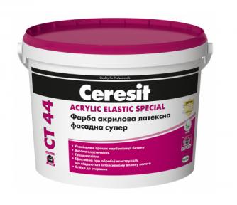 Ceresit CT 44 Acrylic Elastic Special Краска акриловая латексная фасадная супер 10 л
