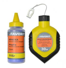 Шнур малярный Favorit (Фаворит) 30 м, резиновый корпус + краска 115 г