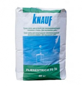 Knauf (Кнауф) Fliessestrich FE 30 (Флисестрикс ФЭ-30) Смесь для пола 40 кг