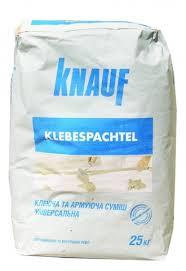 Knauf (Кнауф) Klebespachtel (Клебешпахтель) Сухая цементная универсальная клеящая и армирующая смесь 25 кг
