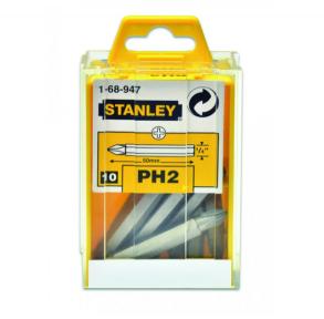 Набор отверточных насадок Stanley (Стенли) Cr-V, РН2 50 мм, 10 шт