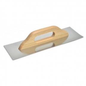 Гладилка стальная с нержавеющим покрытием Favorit (Фаворит) деревянная ручка Швейцарская 125х580 мм