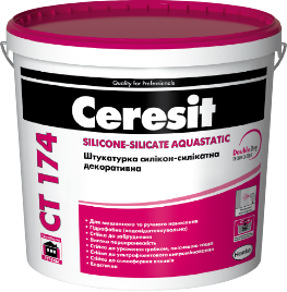 Ceresit СТ 174 Штукатурка силикон-силикатная декоративная (1 мм), 25 кг