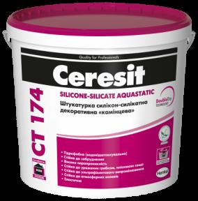 Ceresit СТ 174 Штукатурка силикон-силикатная декоративная «камешковая», 25кг