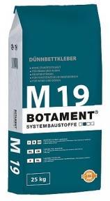 Botament M 19 Тонкослойный клей для плитки C1 T, 25 кг