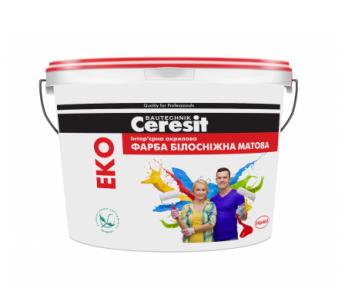 Ceresit EKO Интерьерная акриловая краска белоснежная матовая 10 л