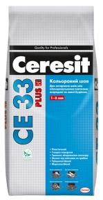 Ceresit CE 33 Plus затирка для швов, 2 кг (Все цвета)