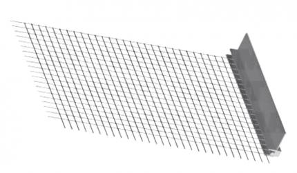 Ceresit (Церезит) CT 340 A/03 Профиль примыкающий со стеклосеткой для оконных и дверных блоков 6 мм х 2,4 м