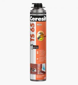 Ceresit TS 65 Монтажная пена с мегавыходом профессиональная (под пистолет) 850 мл