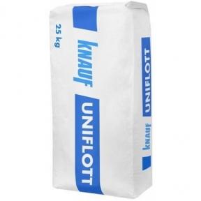 Knauf (Кнауф) Uniflott (Унифлотт) Шпаклевка гипсовая высокопрочная для систем сухого строительства 25 кг