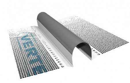 OFITEX (Офитекс) Профиль ПВХ дилатационной прямой с сеткой  2 м