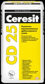 Ceresit (Церезит) CD 25 Ремонтно-восстановительная мелкозернистая смесь, 25 кг