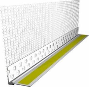 Knauf (Кнауф) Профиль ПВХ оконный примыкающий с армирующей сеткой L образный, 3м (30шт/уп)