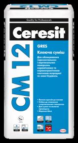 Ceresit СМ 12 Клеящая смесь Gres, 25 кг