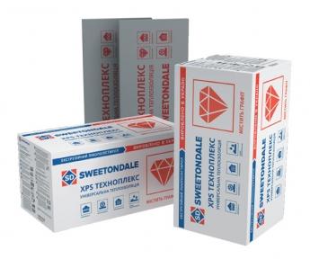 Sweetondale (Свитондейл) Техноплекс Экструдированный пенополистирол 1180х580х50/100 мм, уп. 6/4 шт